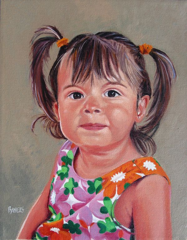 Grace Ganz-Girl with pigtails