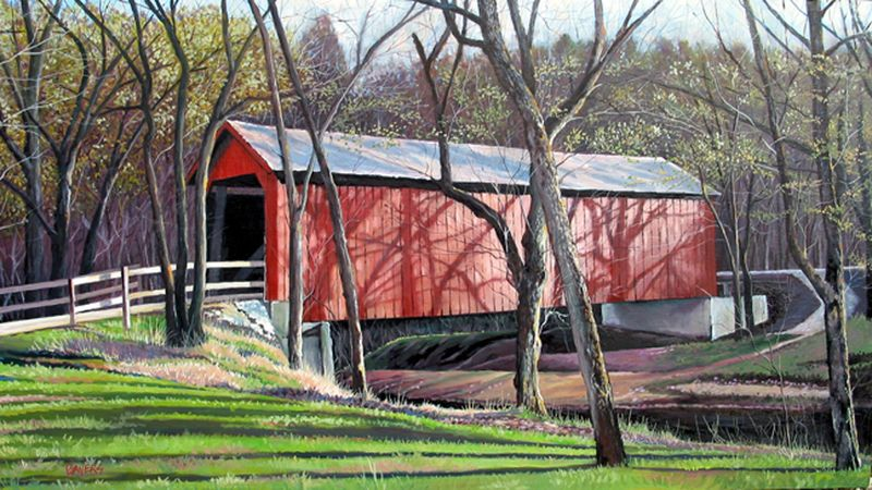 sandy creek covered bridge